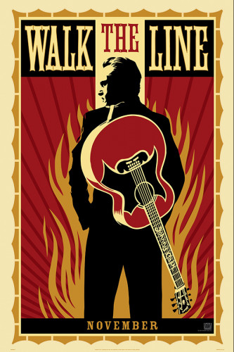Poster Retrô Walk The Line