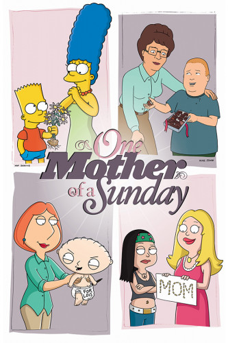 Poster Family Guy, Simpsons, King Of The Hill, American Dad