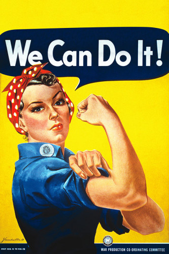 Poster We Can Do It - Rosie The Riveter - Clássico - Feminismo