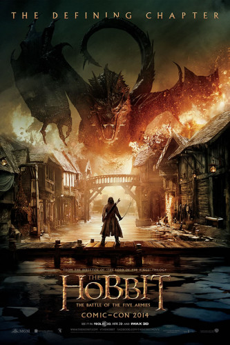 Poster Hobbit Cinco Exércitos
