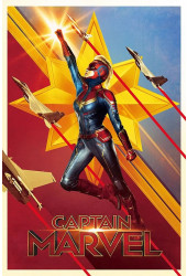 Poster Capitain - Capitã Marvel