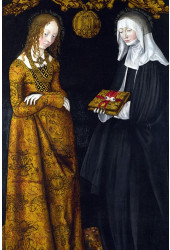 Poster Cranach Lucas The Elder - Saints Christina And Ottilia - Obras de Arte