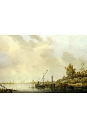 Poster Cuyp Aelbert - A River Scene With distant Windmills