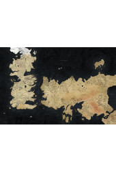 Poster Mapa de Westeros e Essos - Game of Thrones - GOT