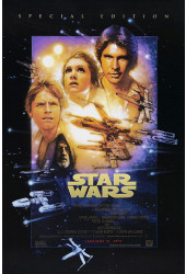 Poster Star Wars Geek Guerra Estrelas Episodio Nova Esperanca New Hope