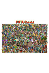 Poster Todos Os Personagens do Futurama - Séries