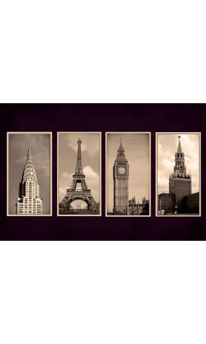 Poster Fotografia - New York - Paris - Londres - Moscow