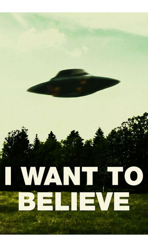 Poster I Want To Believe X Files - Arquivo X