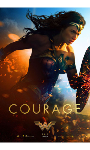 Poster Wonder Woman Mulher Maravilha Courage