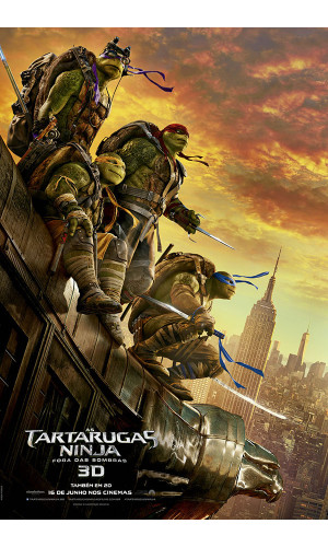 Poster Tartarugas Ninjas Teenage Mutant Ninja Turtles Out Of The Shadows