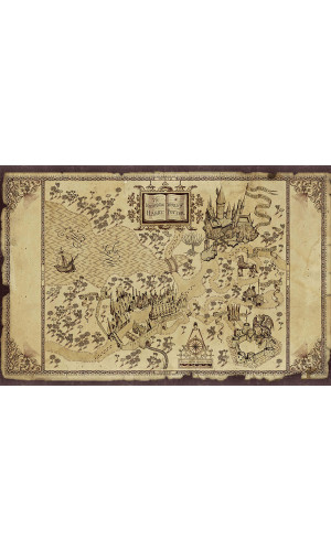 Poster Mapa Harry Potter
