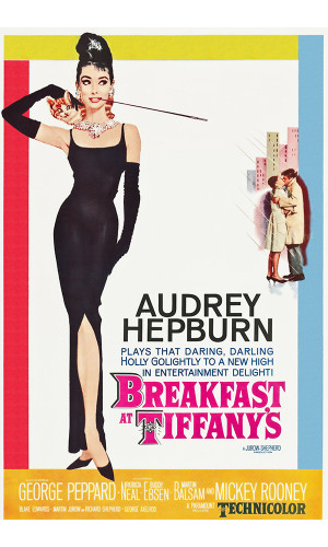 Poster Bonequinha Luxo - Breakfast At Tiffany - Audrey