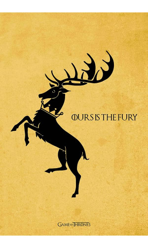 Poster Game Of Thrones Got Casa Baratheon