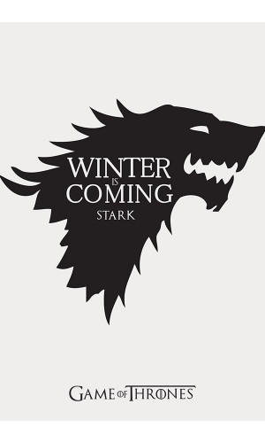Poster Game Of Thrones Got Casa Stark