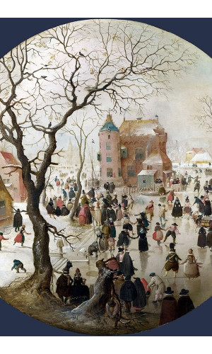 Poster Avercamp Hendrick - A Winter Scene With Skaters Near A Castle