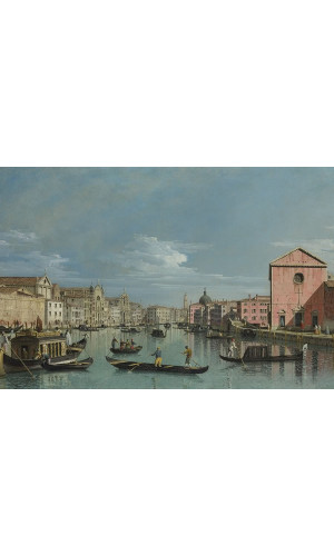 Poster Bellotto Bernardo - Venice - The Grand Canal Facing Santa Croce