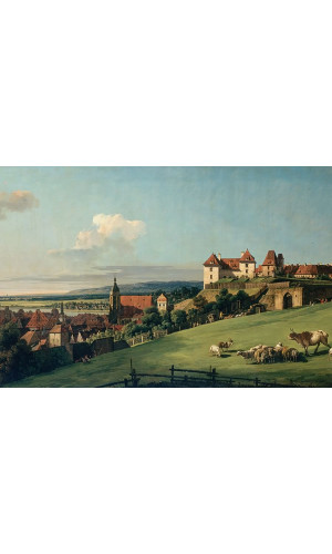 Poster Bellotto Bernardo - View Of Pirna From The Sonnenstein Castle
