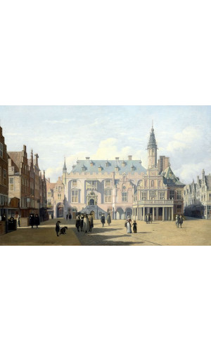 Poster Berckheyde Gerrit Adriaensz - The Market Place And Town Hall Haarlem