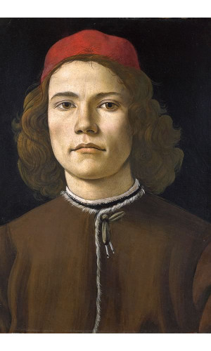 Poster Botticelli Sandro - Portrait Of A Young Man3