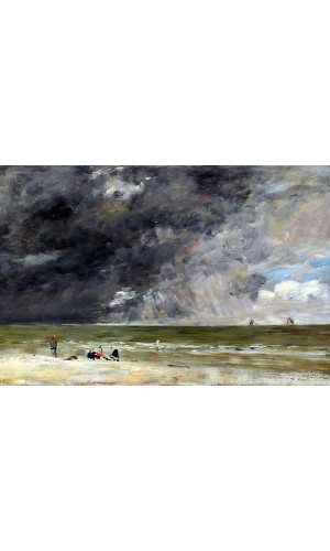 Poster Boudin Eugene - Beach At Trouville