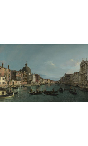 Poster Canaletto - The Grand Canal With S. Simeone Piccolo