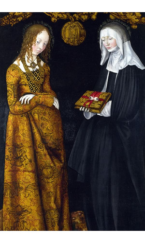Poster Cranach Lucas The Elder - Saints Christina And Ottilia