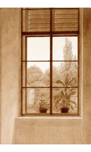 Poster Friedrich Caspar david - Window Looking Over The Park