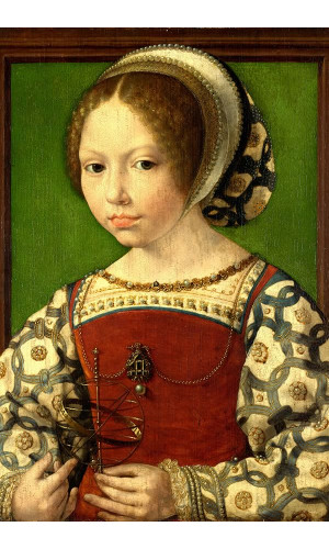 Poster Gossaert Jan Called Mabuse - Young Girl With Astronomic Instrument