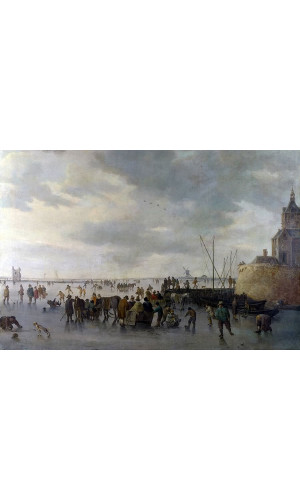 Poster Goyen Jan Van - A Scene On The Ice Near dordrecht