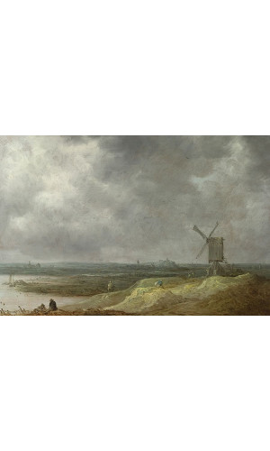 Poster Goyen Jan Van - Windmill By A River