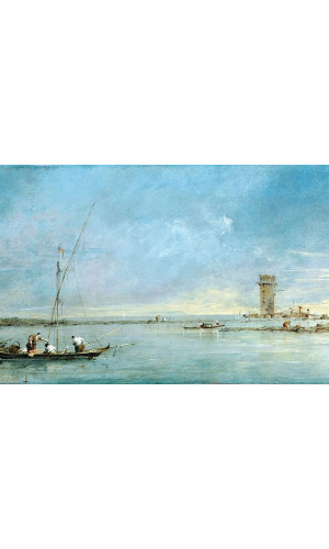 Poster Guardi Francesco - View Of The Venetian Lagoon With The Tower Of Malghera