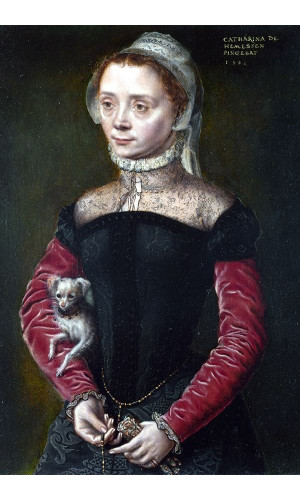 Poster Hemessen Catharina Van - Portrait Of A Lady