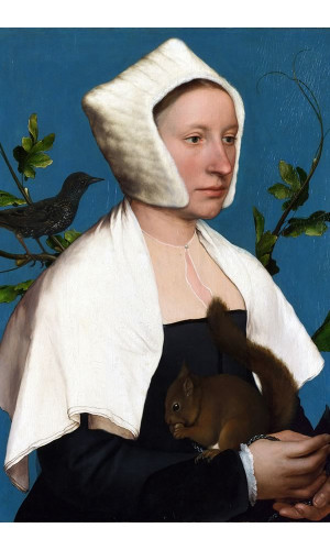 Poster Holbein Hans The Younger 1526-1528 Portrait Of A Lady With A Squirrel And A Starling
