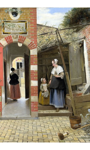 Poster Hooch Pieter de - The Courtyard Of A House In delft