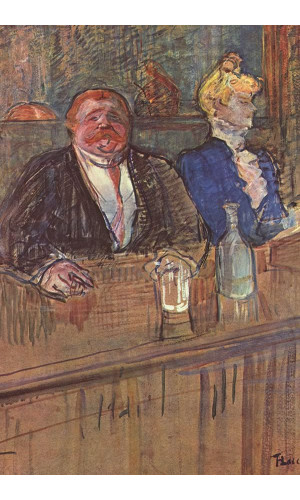 Poster Henri de Toulouse At The Cafe - The Customer And The Anemic Cashier - 1898 1899