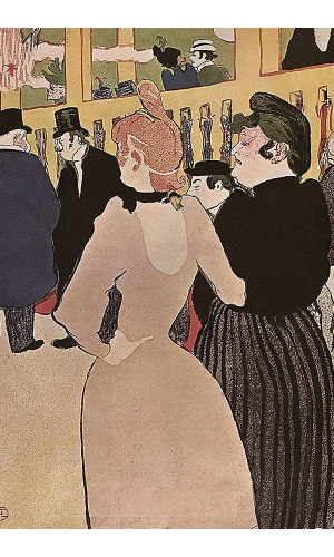 Poster Henri de Toulouse At The Moulin Rouge La Goulue With Her Sister - 1892 - Private Collection