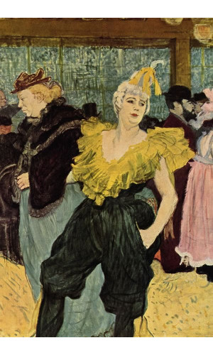 Poster Henri de Toulouse At The Moulin Rouge The Clowness Cha U Kao - 1895 - Musee d'orsay
