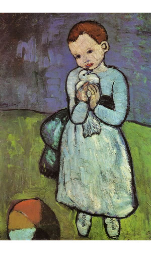 Poster Pablo Picasso Child Holding A dove 1901
