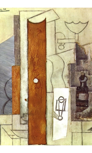 Poster Pablo Picasso Guitar Gas Jet And Bottle 1913
