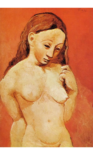 Poster Pablo Picasso Nude Against A Red Background 1906