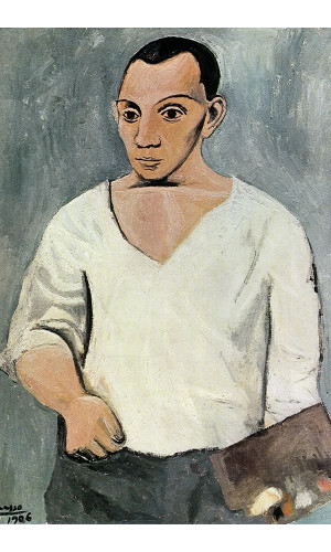 Poster Pablo Picasso Self Portrait With Palette 1906