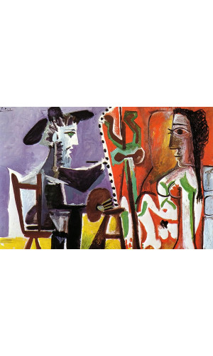 Poster Pablo Picasso The Artist And His Model 1963