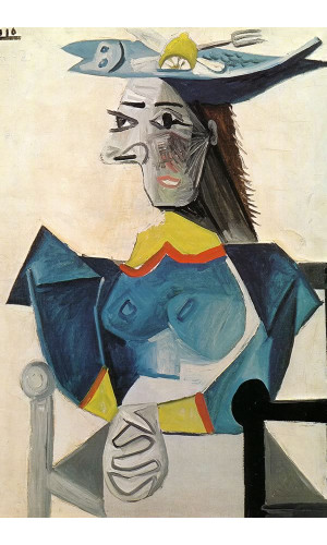 Poster Pablo Picasso Woman In A Fish Hat 1942