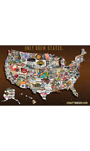 Poster Mapa Craft Beer