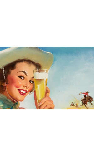 Poster Cerveja Gil Elvgreen American Shier Texas Special