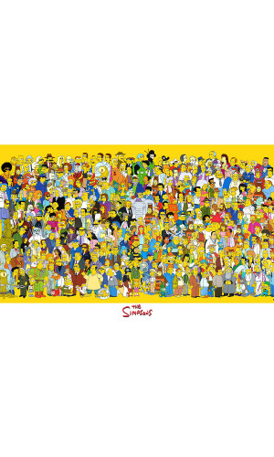 Poster Simpsons Personagens
