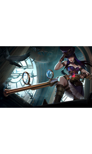 Poster League Of Legends - LOL - Caitlyn Base - Games