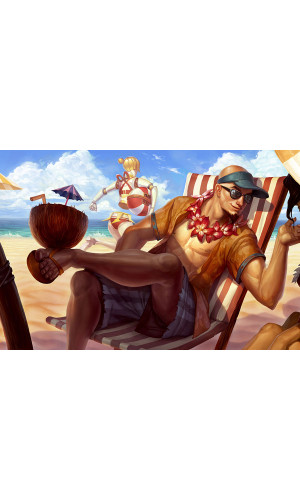Poster League Of Legends - LOL - Lee Sin - Games