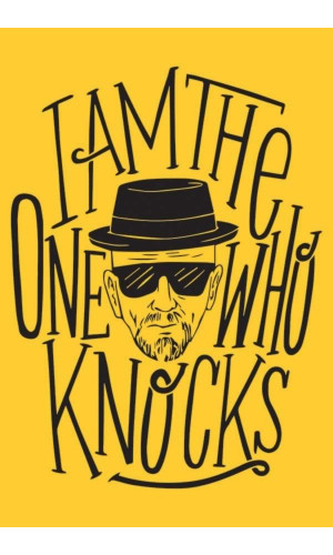 Poster Breaking Bad Heisenberg I Am The One Who Knocks