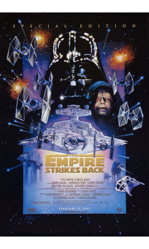 Poster Star Wars Geek Guerra Estrelas Episodio Imperio Contra Ataca Empire Strikes Back
